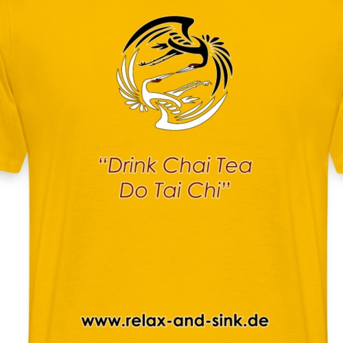 Drink Chai Tea, do Tai Chi - Männer Premium T-Shirt
