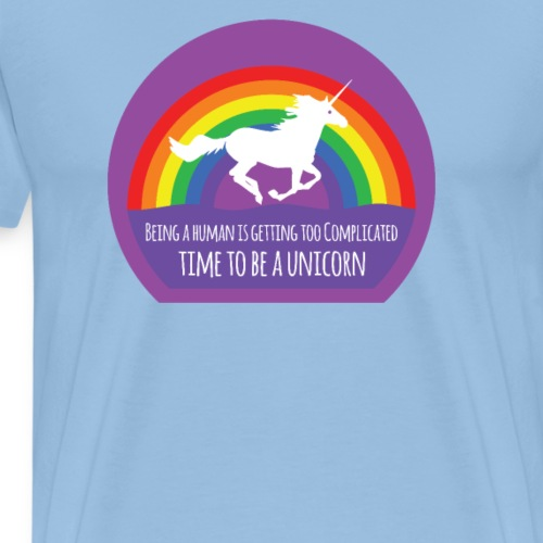 Time To Be A Unicorn - Mannen Premium T-shirt