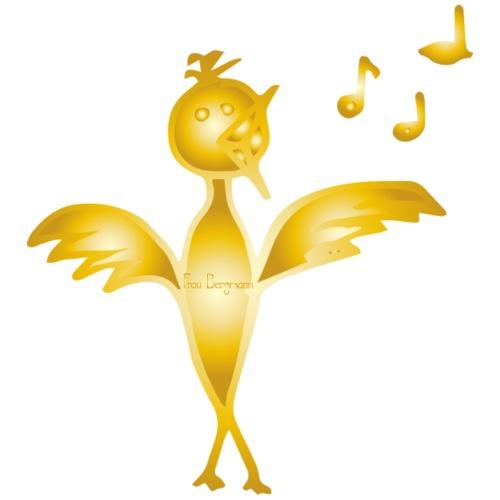 Singender Vogel mit Noten - Männer Premium T-Shirt