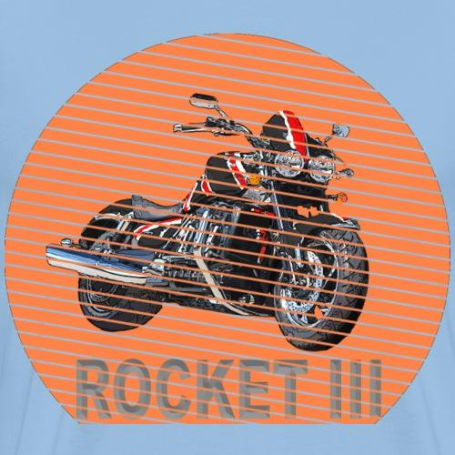 Rocket III Roadster Sun - Sonne black red - Männer Premium T-Shirt