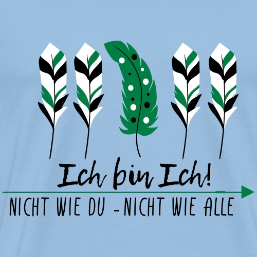 ICH BIN ICH Federn | Das bunte Zebra - Männer Premium T-Shirt