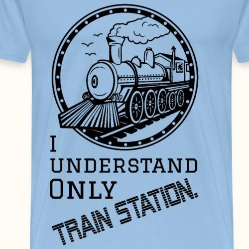 Train Station - schwarz - Männer Premium T-Shirt