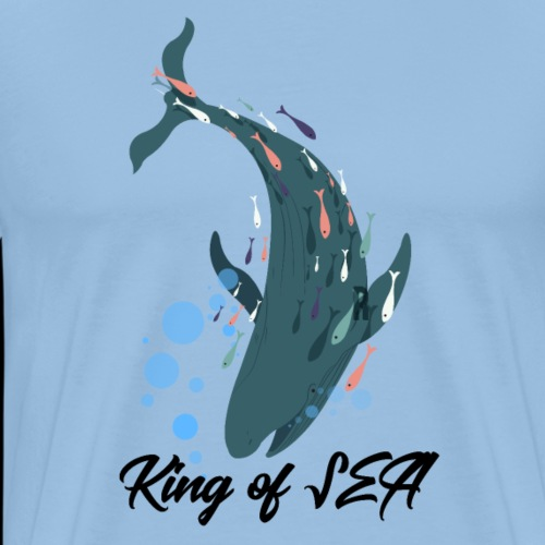 Wal King of the Sea - Männer Premium T-Shirt