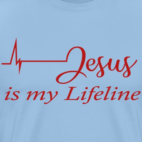 Jesus - Lifeline - Männer Premium T-Shirt
