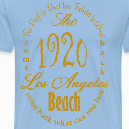 Los Angeles 1920 - yellow - Männer Premium T-Shirt