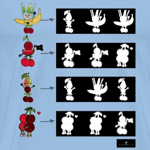 Lustiges Obst und Gemüse - Männer Premium T-Shirt