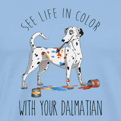 La vie en couleur dalmatien - T-shirt Premium Homme