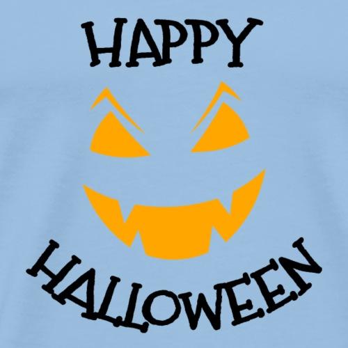 Happy Halloween pumpkin face - Men's Premium T-Shirt