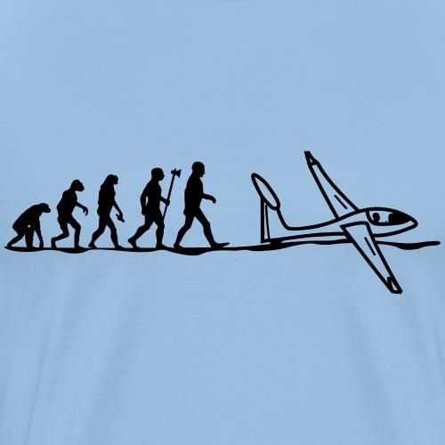 Evolution eines Segelflieger - Geschenkidee - Männer Premium T-Shirt