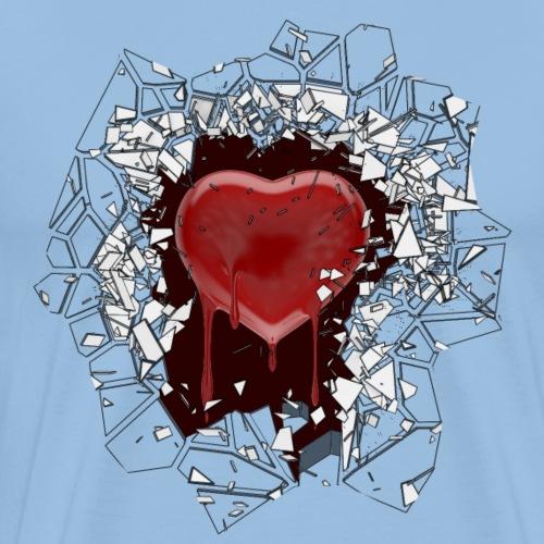 Larmes de coeur - T-shirt Premium Homme