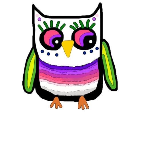 Colorful owl - Men's Premium T-Shirt