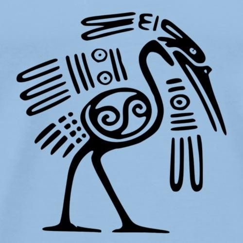 Kranich indianisch - Männer Premium T-Shirt