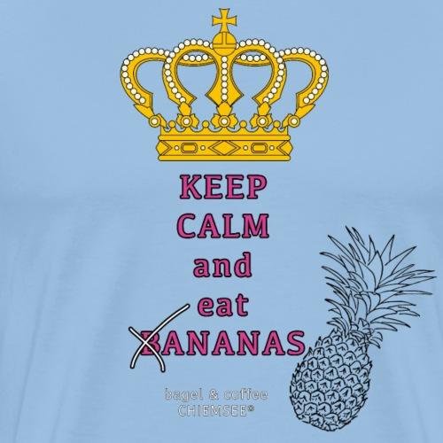keep calm eat bananas - bagel coffee CHIEMSEE - Männer Premium T-Shirt