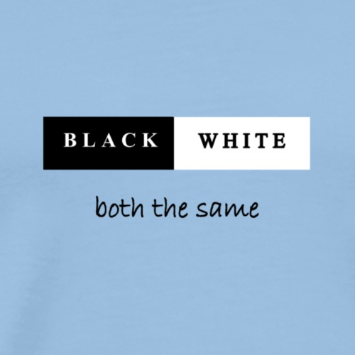 black and white - Männer Premium T-Shirt