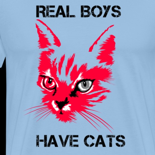 Echte Jungs haben Katzen - Männer Premium T-Shirt
