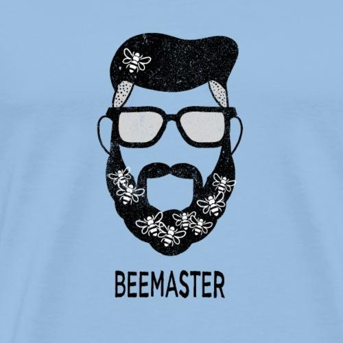 Beemaster Imker Honig Hipster Brille Bart Geschenk - Männer Premium T-Shirt