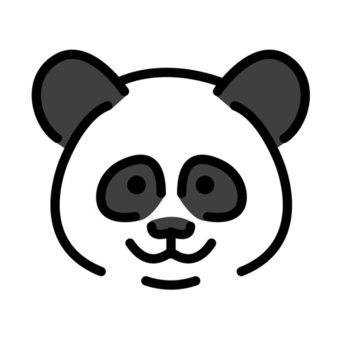 panda head / cabeza de panda - Camiseta premium hombre