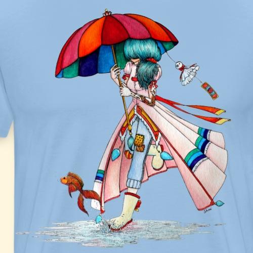 La fille au parapluie - T-shirt Premium Homme
