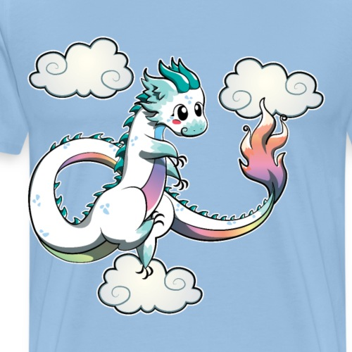Aleani Rainbow Chinese Oriental Air Dragon - Men's Premium T-Shirt
