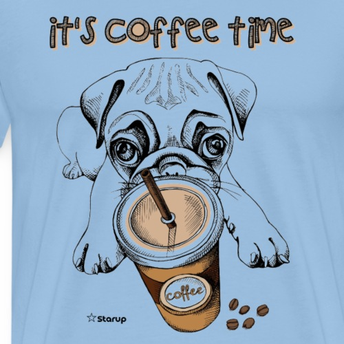 it's coffee time - Herre premium T-shirt