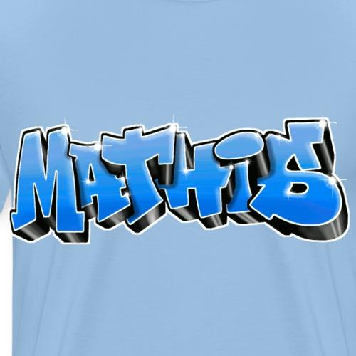 Mathis Graffiti Bleu - T-shirt Premium Homme