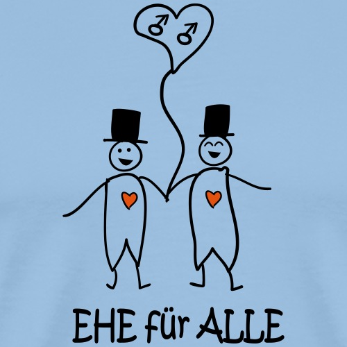 Ehe FürAlle -Männerpaar- - Männer Premium T-Shirt