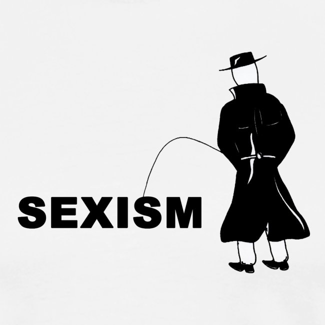 Pissing Man against sexism