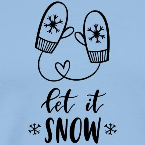 Let in snow mittens - Koszulka męska Premium