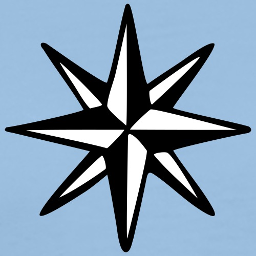 Windrose Kompass Segel Segeln Segler - Männer Premium T-Shirt