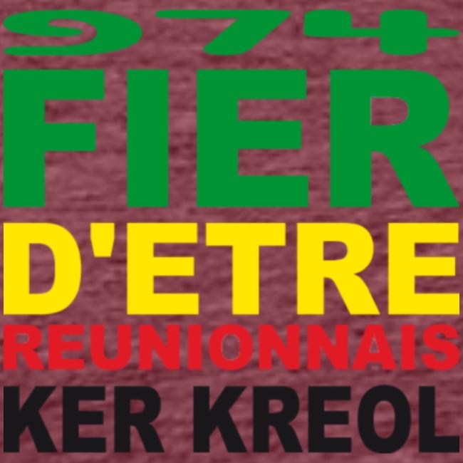 Logo fier d'etre kreol 974 ker kreol - Rastafari