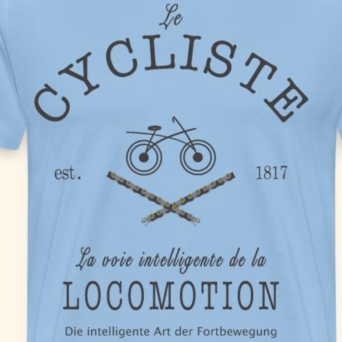 Radfahrer und Radfahrerin auf Französisch/ Deutsch - Männer Premium T-Shirt
