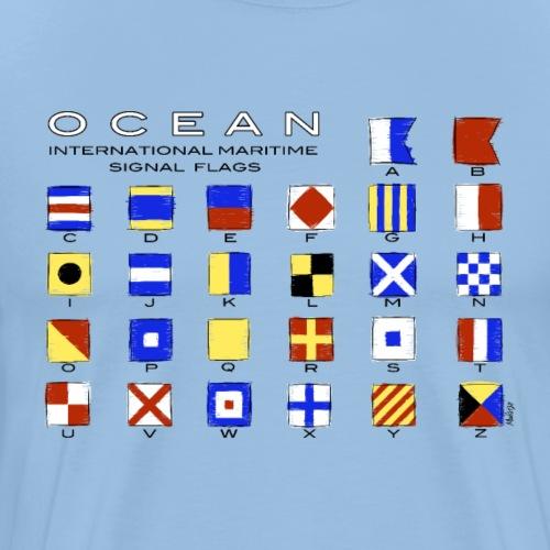 Ocean International Code Sea Flags, Marine Clothes - Miesten premium t-paita
