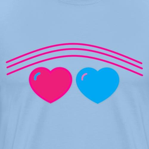 Das Design mit Herz - Männer Premium T-Shirt
