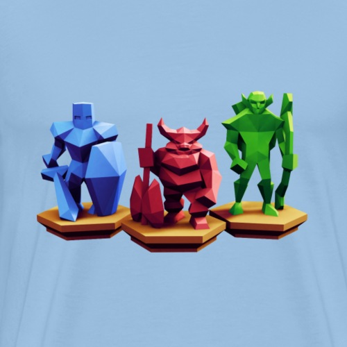 Low Poly Fantasy - Männer Premium T-Shirt