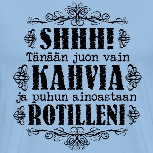 Kahvi Rotta M - Miesten premium t-paita