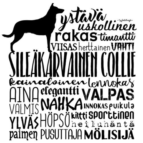 Sileäkarvainen Collie Sanat M - Miesten premium t-paita