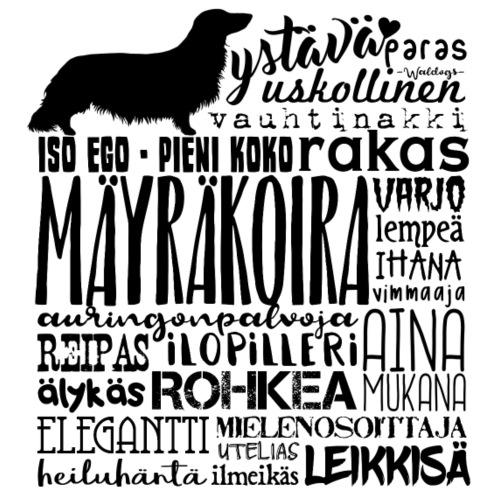 Mäyräkoira PK Sanat - Miesten premium t-paita