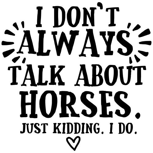 Always Talkin Horses - Miesten premium t-paita