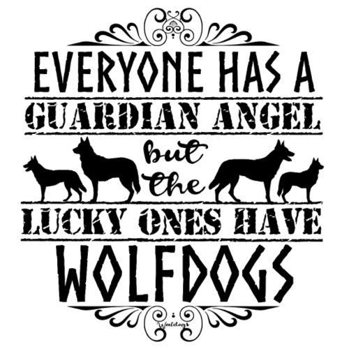 Wolfdog Angels II - Miesten premium t-paita