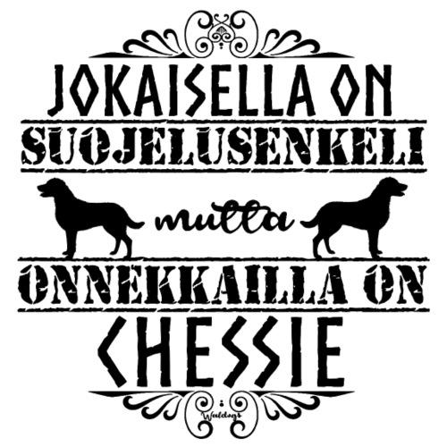 Chessie Enkeli II - Miesten premium t-paita