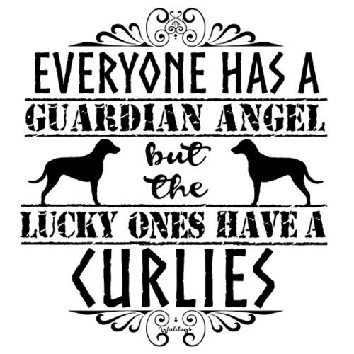 Curly Angels II - Miesten premium t-paita