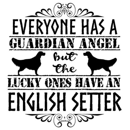 English Setter Angels II - Miesten premium t-paita