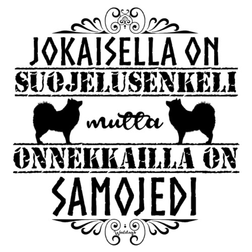 Samojedi Enkeli Musta - Miesten premium t-paita