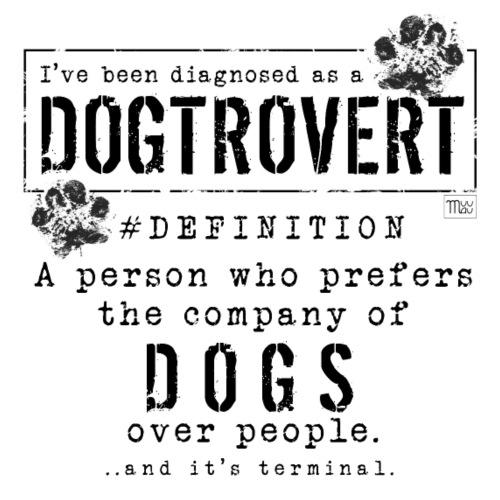 Dogtrovert Black - Miesten premium t-paita
