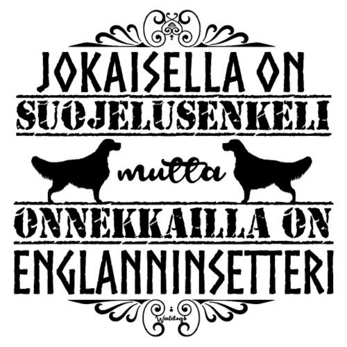 Englanninsetteri Enkeli II - Miesten premium t-paita