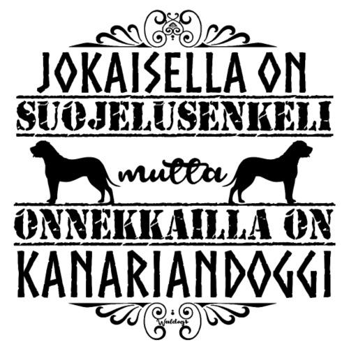 Kanariandoggi Enkeli II - Miesten premium t-paita