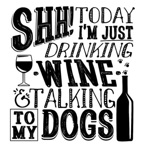 SHH Wine Dogs Black - Miesten premium t-paita