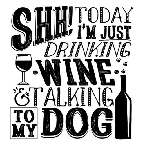SHH Wine Dog Black - Miesten premium t-paita