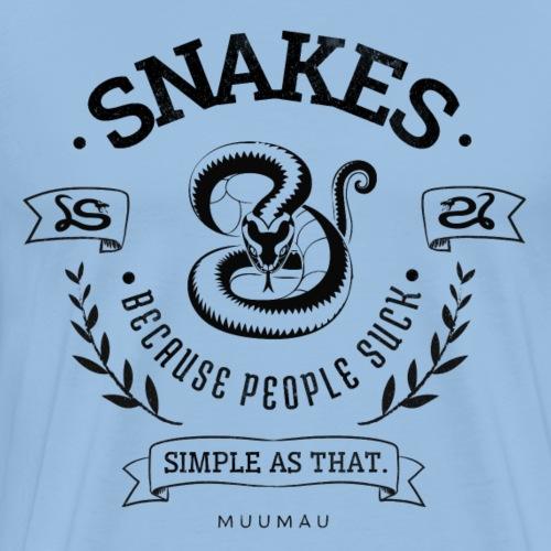 Snakes - People Suck III - Miesten premium t-paita