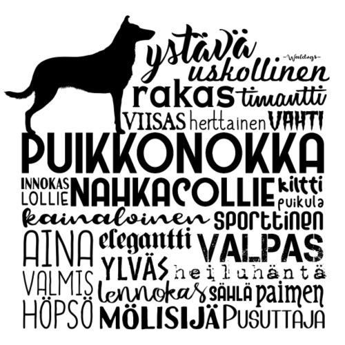 SK Collie Puikkonokka Sanat M - Miesten premium t-paita